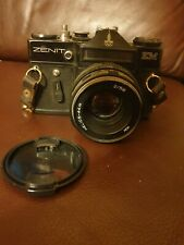 Vintage Zenit EM Moscow Olympics Edition 35mm Camera Helios 44M 2/58mm Lens Rare