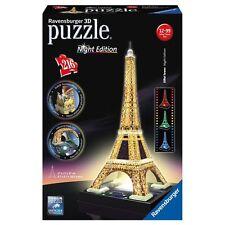 PUZZLE 3D LA TOUR TORRE EIFFEL NIGHT EDITION LED 216 PEZZI RAVENSBURGER 12579