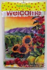 "New Fall Autumn Garden Banner Flag 12"" x 18"" Sunflowers Ladybugs Says "" Welcome"""
