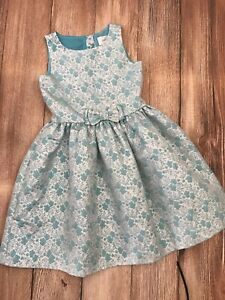 NEW Gymboree Girls Dress Sz 8 Christmas Holiday Turquoise Silver Dressy Special