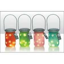 Fairy light jars - set of 4, Luminescent Star Jar with LED lights battery operat