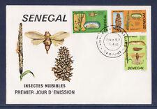 ASg/ Sénégal  enveloppe  1er jour  insectes nuisibles papillons   1982