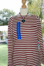 Linen Blend Striped Crew Neck Tops & Shirts for Women