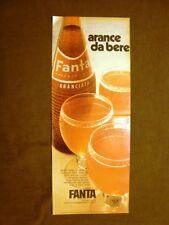 Fanta Arance da bere Pubblicità vintage anni '70