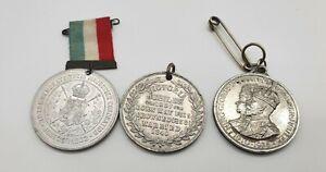 Victoria 1887 Jubilee - 1902 Coronation - 1935 Jubilee Medals