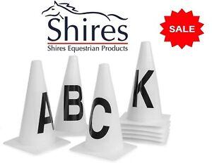Shires Portable Dressage Marker Cones For Schooling Arena Set Of 8  ABCEFHKM