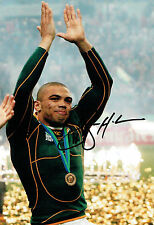Bryan HABANA South Africa Rugby World Cup Signed Autograph 12x8 Photo AFTAL COA