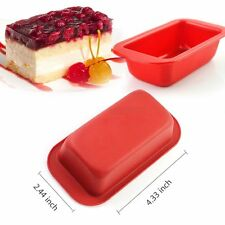 Food-Grade Silicone Loaf Square Bread Cake Mold Baking Pan  2.44*4.33 inch