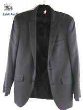 PROFILE BLACK MEN'S CHARCOAL 2 BUTTON BLAZER SOLID SUIT JACKET SPORT COAT 36 R