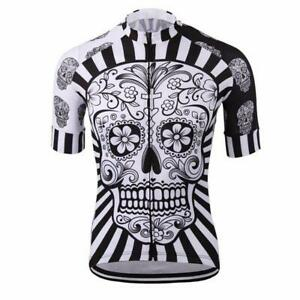 Day Of The Dead Skull Cycling Jersey Short sleeve Pro Clothing Bike Bicycle Gear