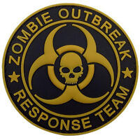 ZOMBIE OUTBREAK RESPONSE TEAM SKULL 3D PVC RUBBER TACTICAL HOOK & LOOP PATCH #02