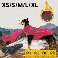 Large Waterproof Dog Jacket Reflectiv Dog Clothes Coat Winter Warm Outdoor