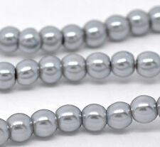 "Glass Pearl Imitation Round Beads - 32"" Strand - 8mm - 105 pcs. - Pick the color"