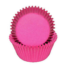 PINK SOLID COLOR - GLASSINE CUPCAKE LINERS - 50 Ct. Standard Size