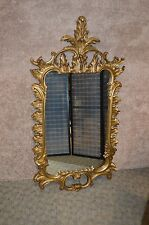 Ornate Rococo Style Burnished Gold Wall Mirror