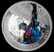 2015 Canada Coloured Superman Silver Coin, Comic Book Covers Action #2, No Tax