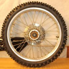 1997 HONDA CR250R   FRONT WHEEL ASSEMBLY  (SMALL CRACK IN RIM AS SHOWN, CHEAP)