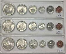 3 X Canada  Silver Year Sets (1965, 1966 & 1967) #35616