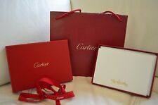 Authentic Cartier Stationery Floral Gold Embossed  Brand New