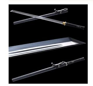 Straight Ninjutsu Ninja Ninjato Short Sword Single Edged Two Handed Steel Blade