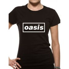 Oasis T Shirt Band Logo Definitely Maybe Album Official Mens Black - Wo Fitted