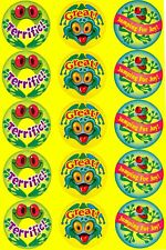 Stinky stickers, Frolicking Frogs, Pineapple scent, 15 stickers!