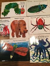 Eric Carle Book Lot Classics Hungry Caterpillar Firefly Spider Brown Bear