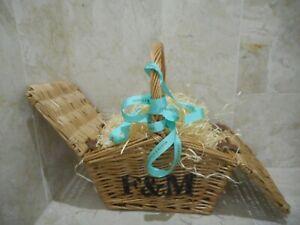 Fortnum & Mason Wicker Picnic Hamper Mini Huntsman Basket BRAND NEW