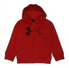 Under Armour Boys Red & Black Zip-Up Hoodie Size 5