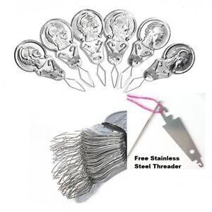 50 x Metal Needle Threaders + FREE OSSTU Threader - UK seller / UK stock