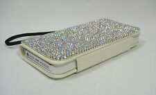 Clear AB Bling Made with Swarovski Crystal Jewel Card Wallet Case Skin Galaxy S3