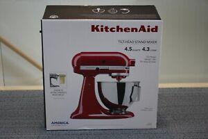 KitchenAid KSM96ER 4.5 qt Tilt-head Stand Mixer - Empire Red