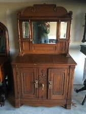 Fancy Victorian Oak Parlor Ice Box