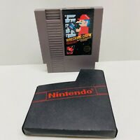 Wrecking Crew - Nintendo NES - Tested 5 screw-Original Authentic Cart W/ Sleeve