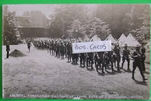 RP Postcard POSTED 1911 COLONIAL CORONATION CONTINGENTS CAMP D.O.Y.SCHOOL LONDON