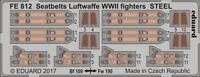 Eduard Accessories Fe812 - 1:48 Seatbelts Luftwaffe WWII Fighters Steel - Ätzsat