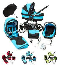 Kombi Kinderwagen X6 mit  Autositz Sonnenschirm Rad-und Farbwahl + mega Zubehör