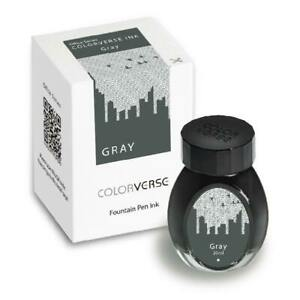 Colorverse Office Series Bottled Ink for Fountain Pens in Gray - 30mL - NEW