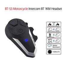 BT-S3 Motorcycle Intercom Headsets FM Radio Wireless Auto-receiving Calls Music
