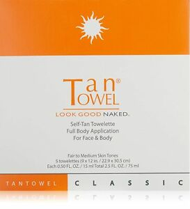 Tan Towel Tan Towel Full Body Classic 5 pack 15ml each