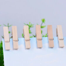 50Pcs Mini DIY Wooden Clothes Photo Paper Pegs Clothespin Cards Craft Clips