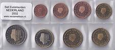 NEDERLAND UNC EURO SET 2002 - serie van 8 munten: 1 cent t/m 2 euro