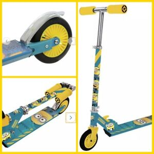 Brand New Boxed Minions Despicable Me Folding Inline Scooter In Yellow & Blue