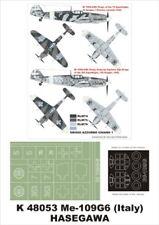 Montex Super Mask 1:48 Bf 109 G-6 Italy for Hasegawa Spraying Stencil #K48053