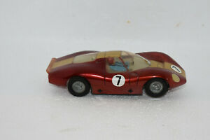 1960's 1970's vintage 1/32 Scale Slot Car Red Porsche Can Am Ferrari Race Car