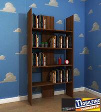 Mobilfino libreria noce 94X180 cameretta b&b scaffale portalibri walnut library