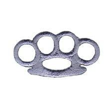Knuckle Duster Embroidered Iron On Badge Applique Patch FD - 1 1/4 INCH