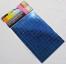 Nuevo 150 PLAZAS AUTOADHESIVO CRISTAL ESPEJO azulejos mosaico ARTE 1CM Sil Azul