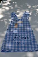 Artefina Kinder Schürze Schürzenkleid  Kochschürze * blau weiß Karo * Kleid