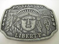 Vintage 1984 Commemorative Statue of Liberty 100th Anniversary Belt Buckle RARE